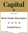 "Auszeichnung für FondsClever.de: ""Beste Fonds-Discounter"" in Capital Heft 11/2020."