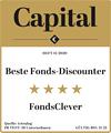 "Auszeichnung f�r FondsClever.de: ""Beste Fonds-Discounter"" in Capital Heft 11/2020."